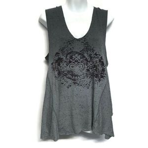ree People Loose Fit Top Sleeveless Flutter Sides